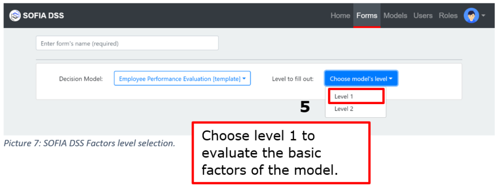 A tutorial about using SOFIA DSS factor forms