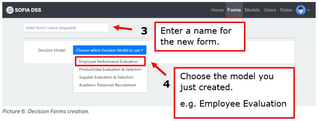 SOFIA DSS Form creation tutorial